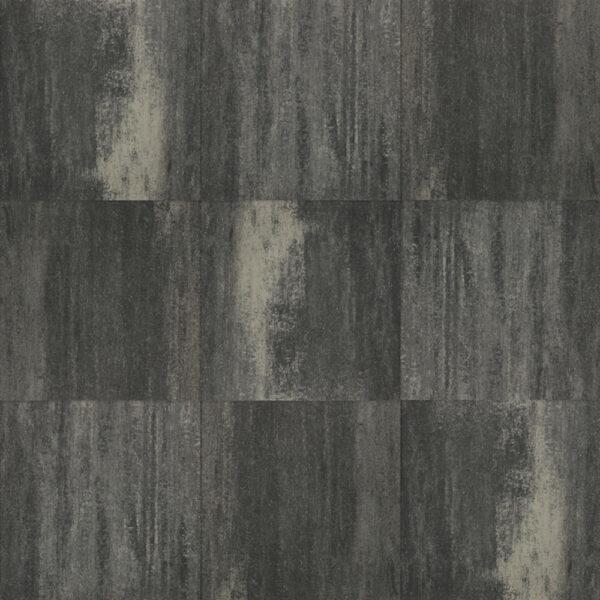 Terrastegel+ 60x60x4 zwart/grijs
