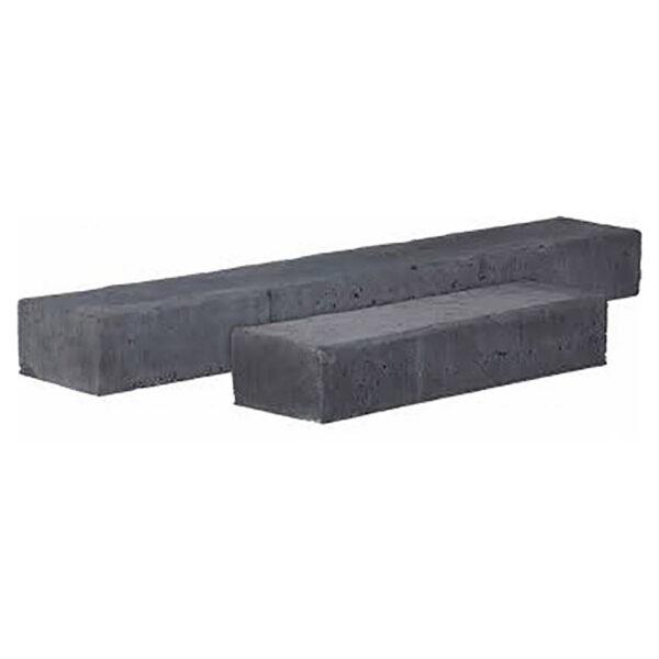betonbiels 12x20x120 zwart