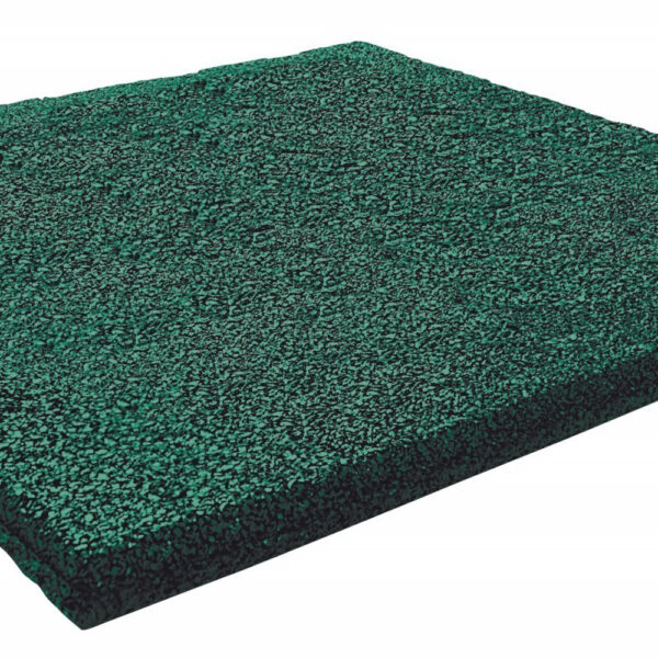 rubber tegel 50x50x4.5 groen