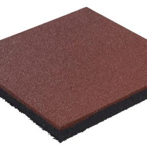 Rubber tegel 50x50x4.5 rood