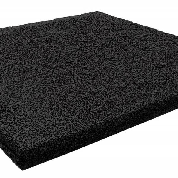 Rubber tegel 50x50x4.5 zwart