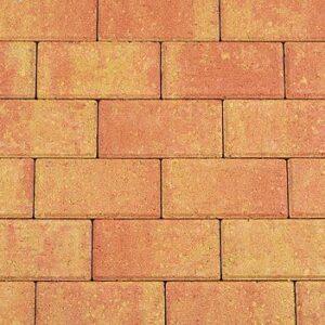 Betonstraatsteen_21x10_5x6cm_Terracotta_Geel
