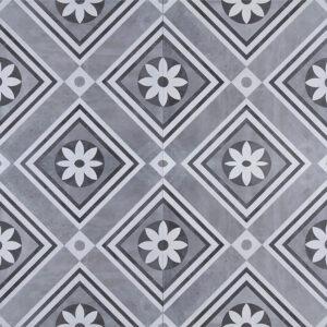 Geoceramica décor 60x60x4 concreet flower
