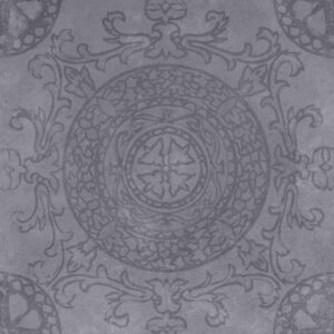 Geoceramica décor 60x60x4 symbol circle black