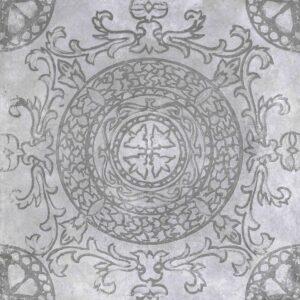Geoceramica décor 60x60x4 symbol circle smoke